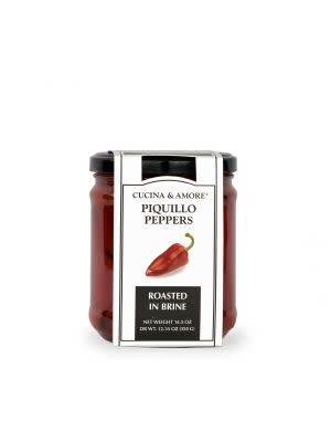Cucina & Amore Whole Roasted Piquillo Peppers 14.5oz.