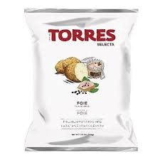 Torres Foie Gras Flavored Potato Chips 1.76oz., Spain