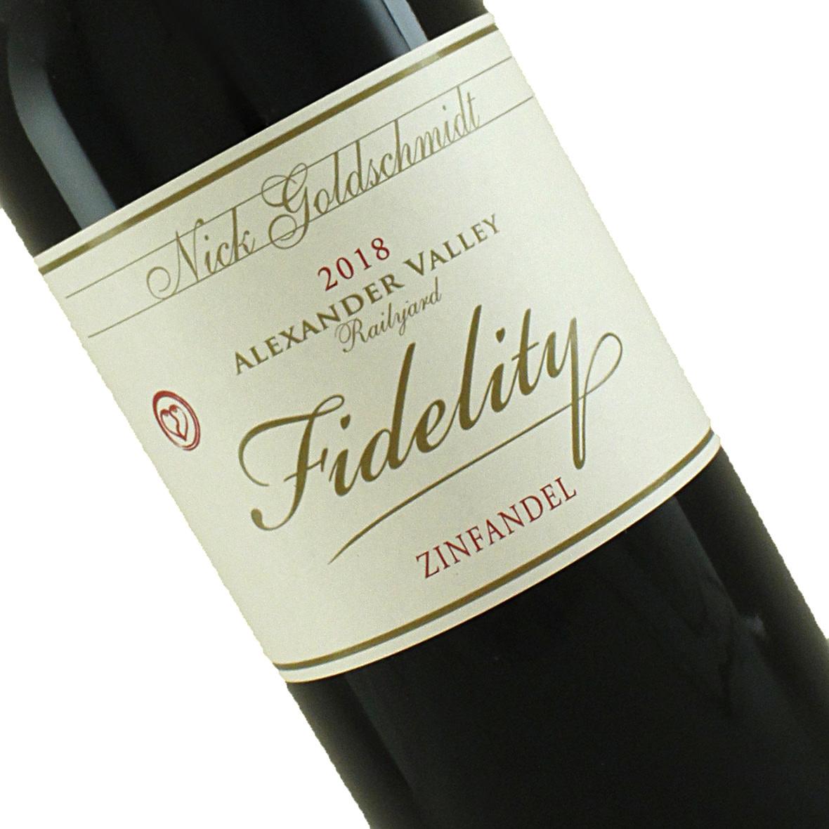 """Nick Goldschmidt 2018 """"Fidelity Railyard"""" Zinfandel, Alexander Valley"""