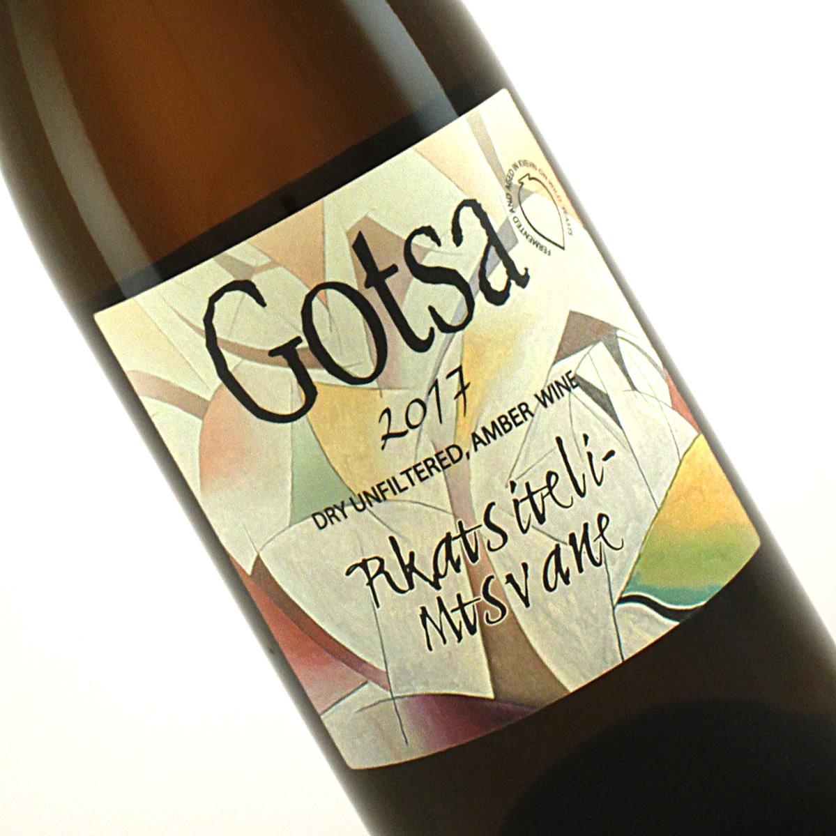 Gotsa 2017 Rkatsiteli - Mtsvane Natural Georgian Amber Wine Asureti Valley, Kartli