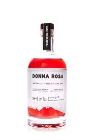 """Portuguese Bend Distillery """"Donna Rosa"""" Gin Colored with Hibiscus Juice, Long Beach, CA"""