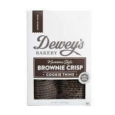 Dewey's Brownie Crisp Cookie Thins 9oz., North Carolina