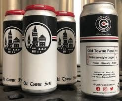"""Chapman Crafted """"Old Towne Fest"""" Marzen-Style Lager 16oz. Can - Orange, CA"""