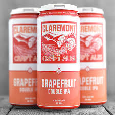 Claremont Craft Ales Grapefruit Double IPA 16oz. Can - Claremont, CA