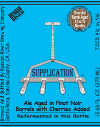 """Russian River Brewing """"Supplication"""" Sour"""