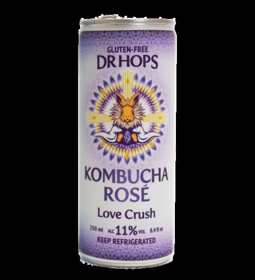 """Dr. Hops """"Love Crush"""" Kombucha Rose 8.4oz. San Jose, CA"""