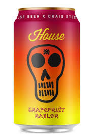 "House Beer X Craig Stecyk ""House"" Grapefruit Radler 12oz. Venice, CA"