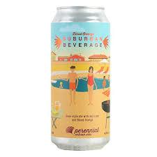 "Perennial Artisan Ales "" Blood Orange Suburban Beverage"" Gose-Style Ale w/Key Lime & Blood Orange 16oz. Can - St. Louis, MO"