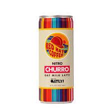 "Red Hat Coffee ""Churro"" Nitro Oat Milk Latte 8oz. Can"