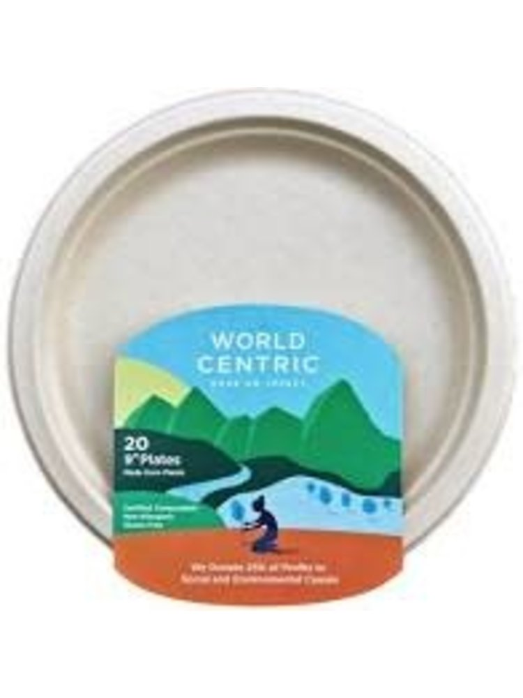 """World Centric Compostable 9"""" Plates, 20 count"""