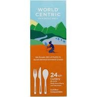 World Centric Compostable Utensils 24 count, 8 each