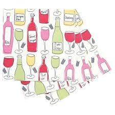 RFP Napkin - Wine Bottles & Glasses