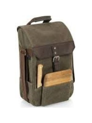 Picnic Time Legacy Waxed Canvas Wine & Cheese Cooler Bag