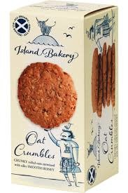 Island Bakery Oat Crumbles - Chunky Rolled Oats with Honey Isle of Mull, Scotland