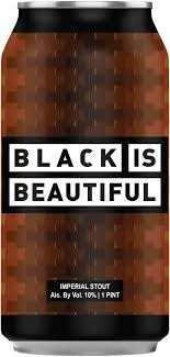 "Trademark Brewing ""Black Is Beautiful"" Imperial Stout Feeaturing 10 Hour Coffee 16oz. Can - Long Beach , CA"