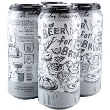 """Off Color Brewing """"Beer For Brunch"""" Berliner-Style Weisse Ale w/ Orange & Chardonnay Juice 16oz. Can - Chicago, IL"""