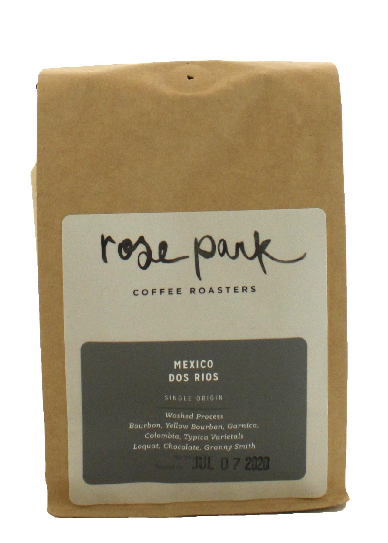 Rose Park Coffee Roasters - Mexico Dos Rios Whole Bean 12oz. Bag Long Beach, CA