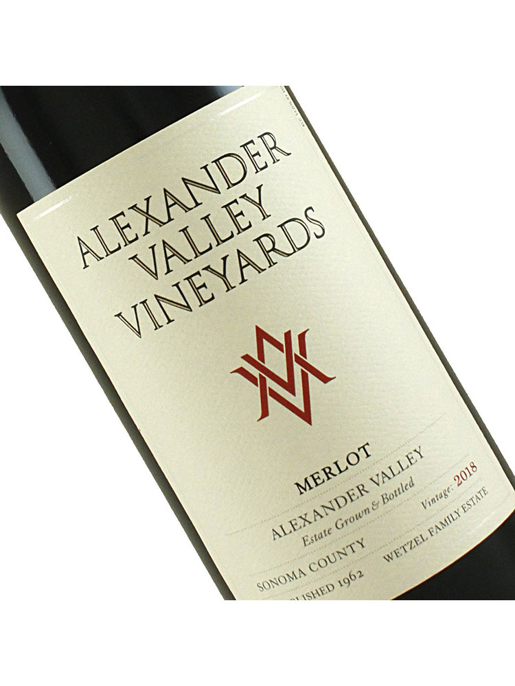 Alexander Valley Vineyards 2018 Merlot Alexander Valley , Sonoma County