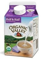 Organic Valley Half & Half, Pint USDA Organic