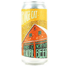 """Fat Orange Cat Brewing """" This Is Not My Beautiful Beer"""" North East IPA 16oz, Can - Boston, Mass"""