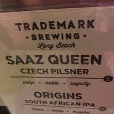 "Trademark Brewing ""Saaz Queen"" Czech Pilsner 16oz. Can - Long Beach, CA"