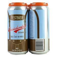 """Occidental Brewing """"Festbier"""" 16oz. Can-Portland, Oregon"""