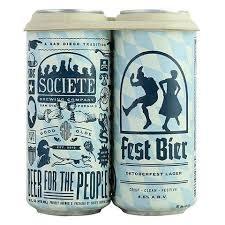 "Societe Brewing ""Fest Bier"" Oktoberfest Lager 16oz. Can - San Diego, CA"