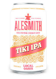 "AleSmith Brewing ""Local Oasis"" Tiki IPA 12oz. Can - San Diego, CA"