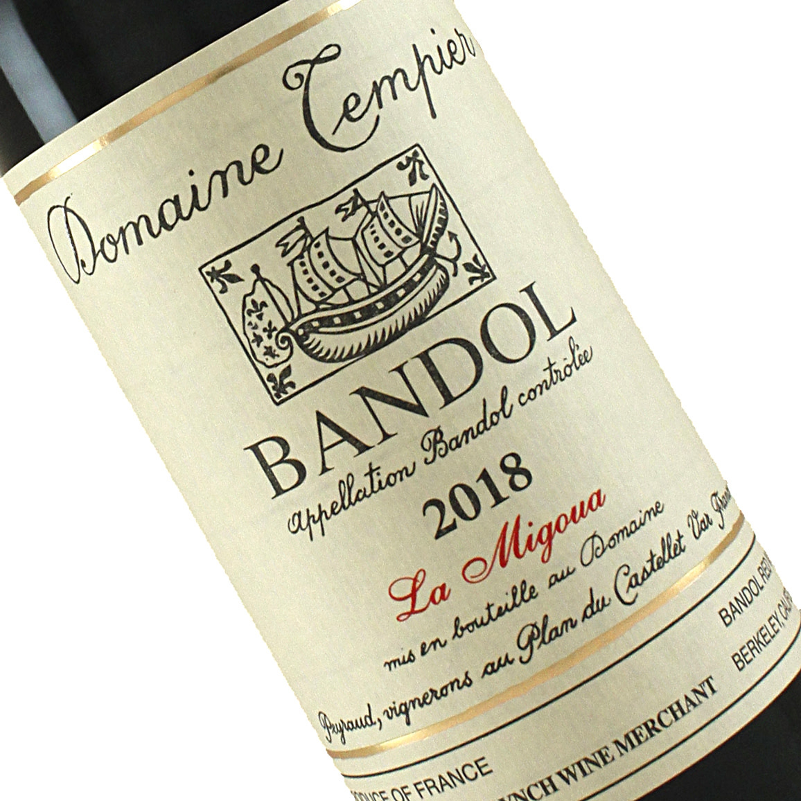 """Domaine Tempier 2018 Bandol """"La Migoua"""", Provence"""