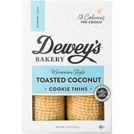 Dewey's Toasted Coconut Cookie Thins 9oz., North Carolina