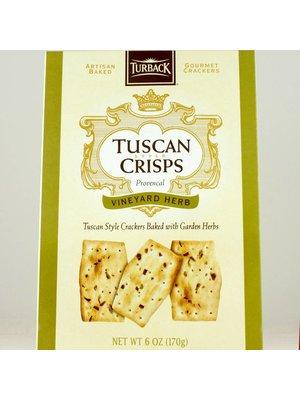 Turback Tuscan Crisps, Vineyard Herb