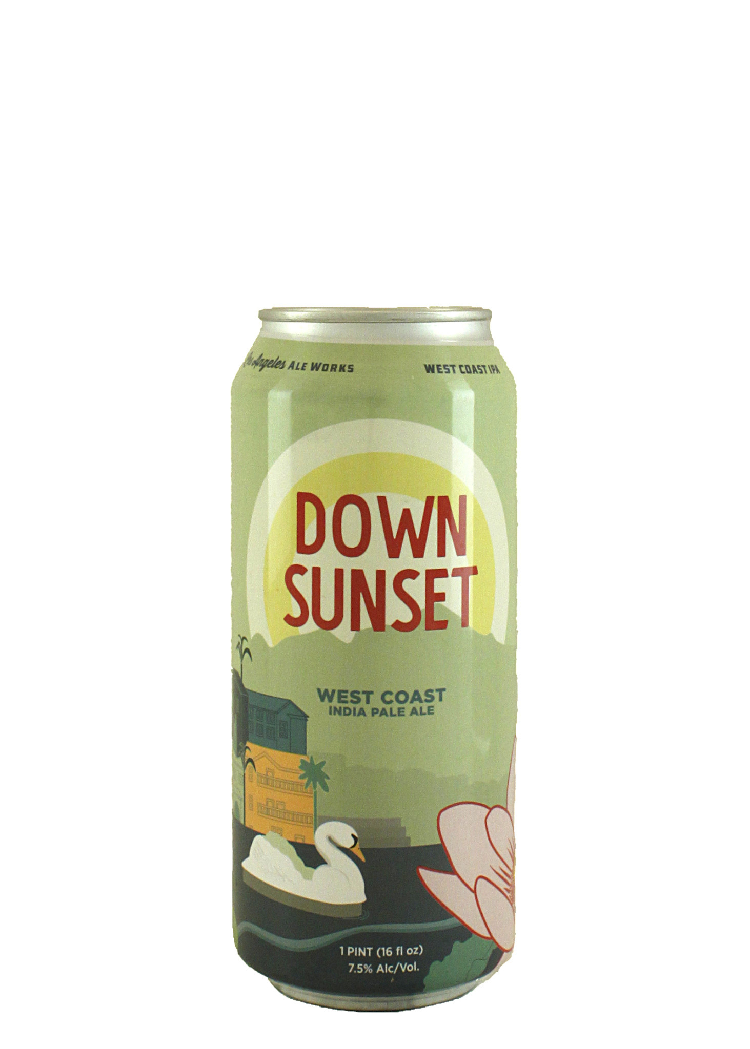 "Los Angeles Ale Works ""Down Sunset"" West Coast IPA 16oz. Can - Hawthorne, CA"