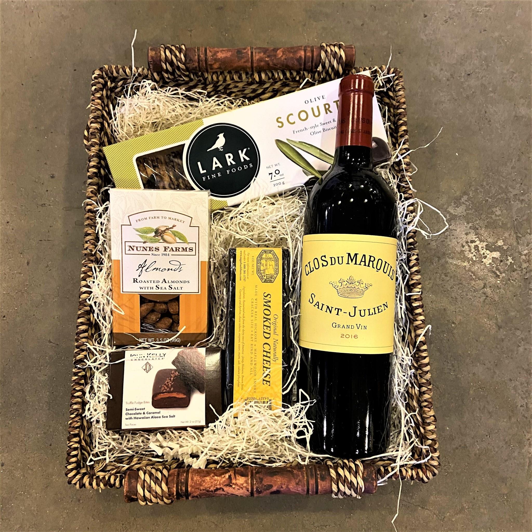 """""""Grand Vin"""" Clos Du Marquis Red Bordeaux Gift Basket"""