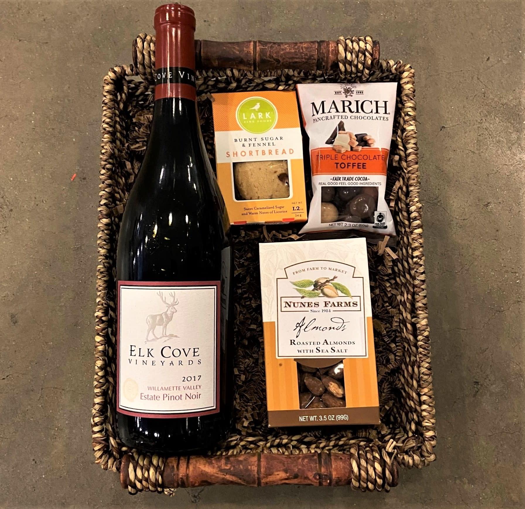 "Oregon Pinot Noir ""Elk Cove"" Single Bottle Gift Basket"