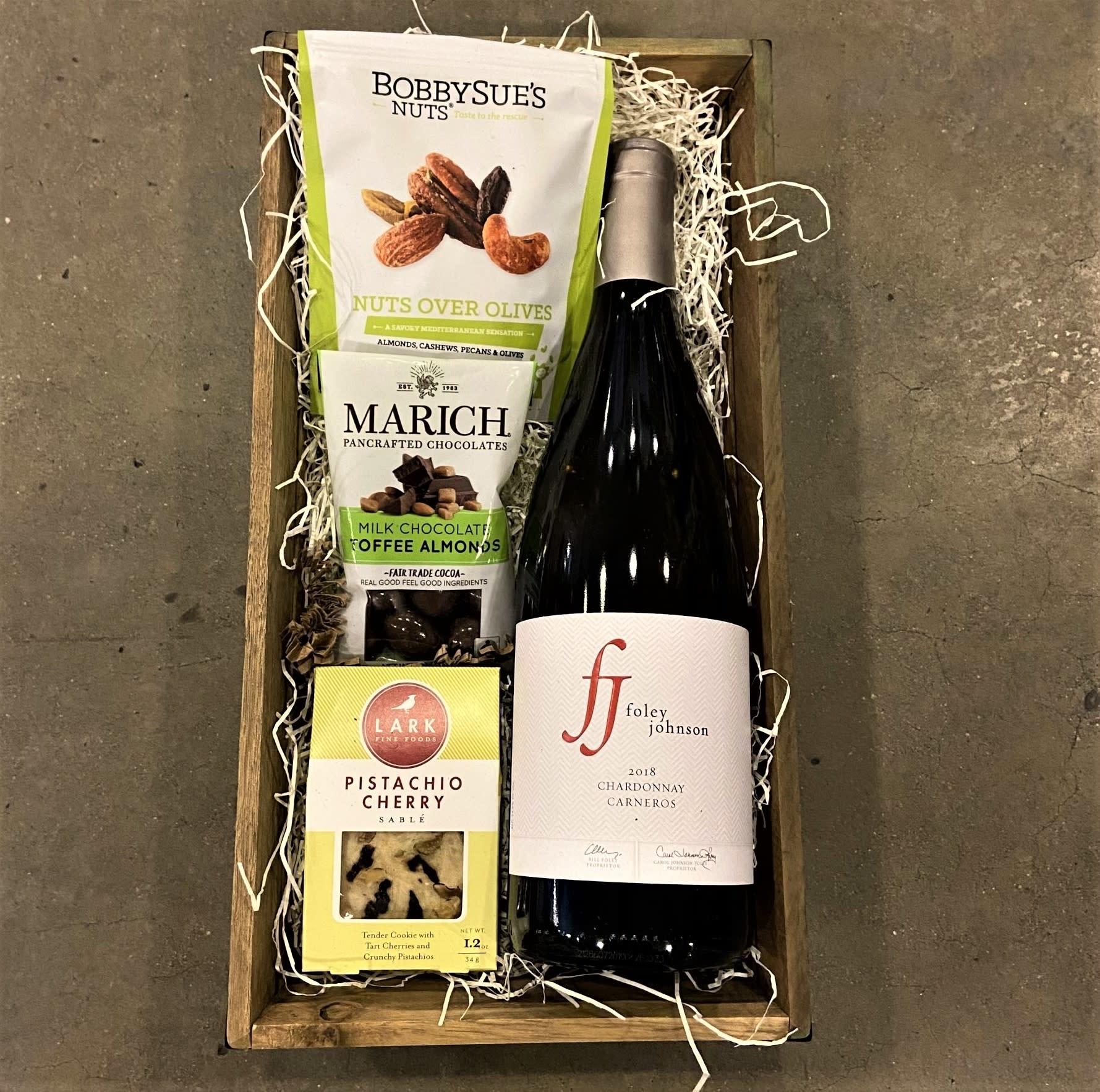 """Los Carneros"" Foley-Johnson Chardonnay Single Bottle Gift Basket"