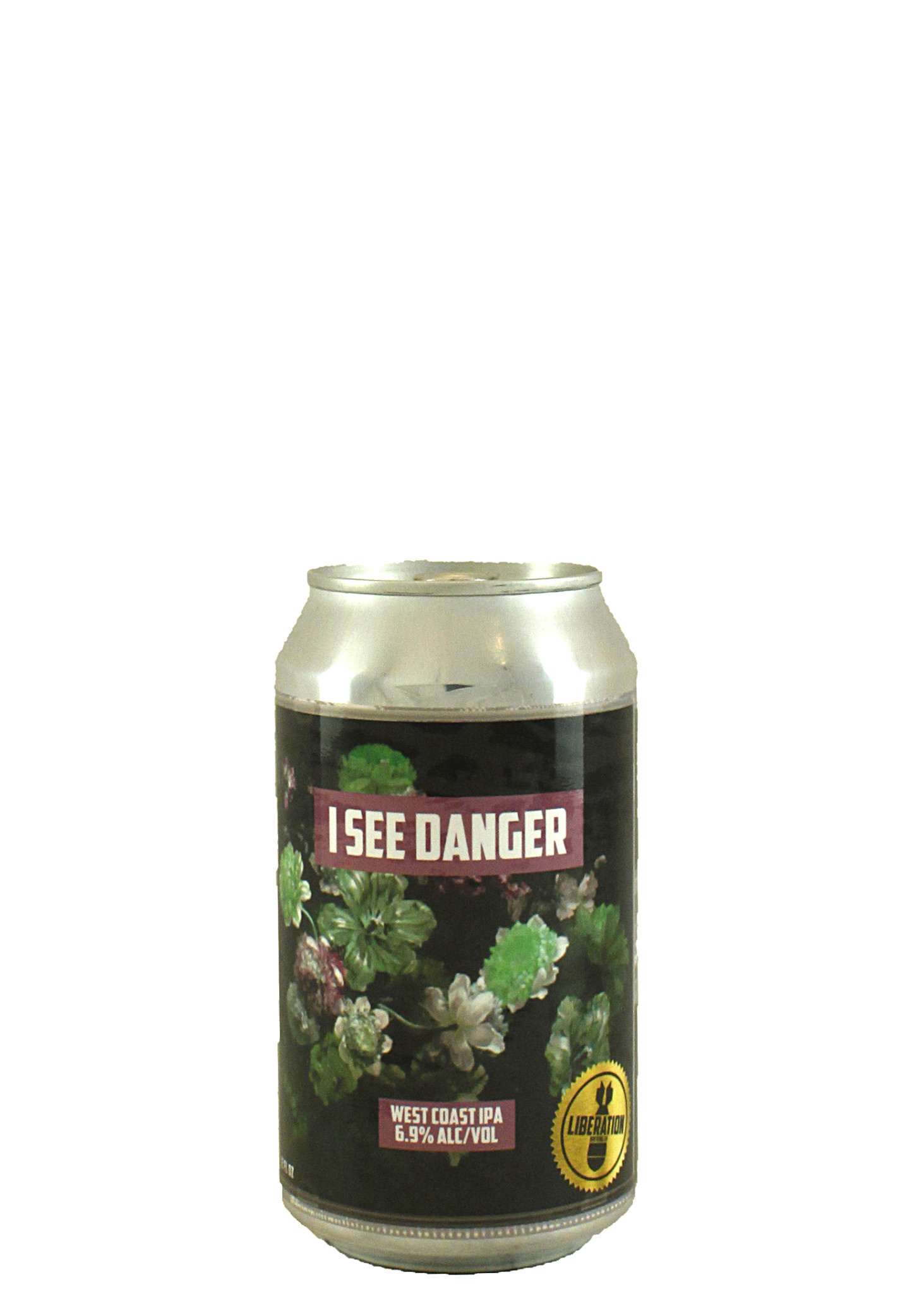 """Liberation Brewing """"I See Danger"""" West Coast IPA 12oz. Can - Long Beach, CA"""