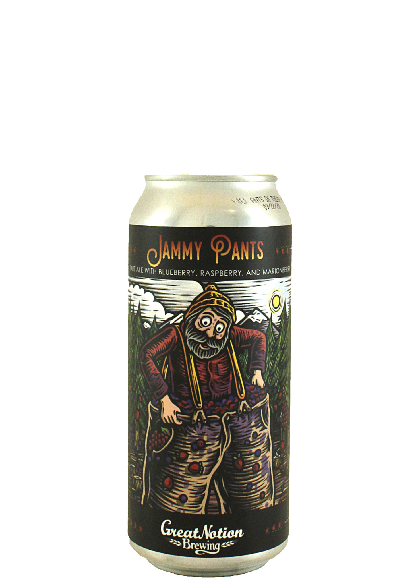 "Great Notion Brewing ""Jammy Pants"" Tart Ale w/Blueberry, Raspberry & Marionberry 16oz. Can - Portland, OR"