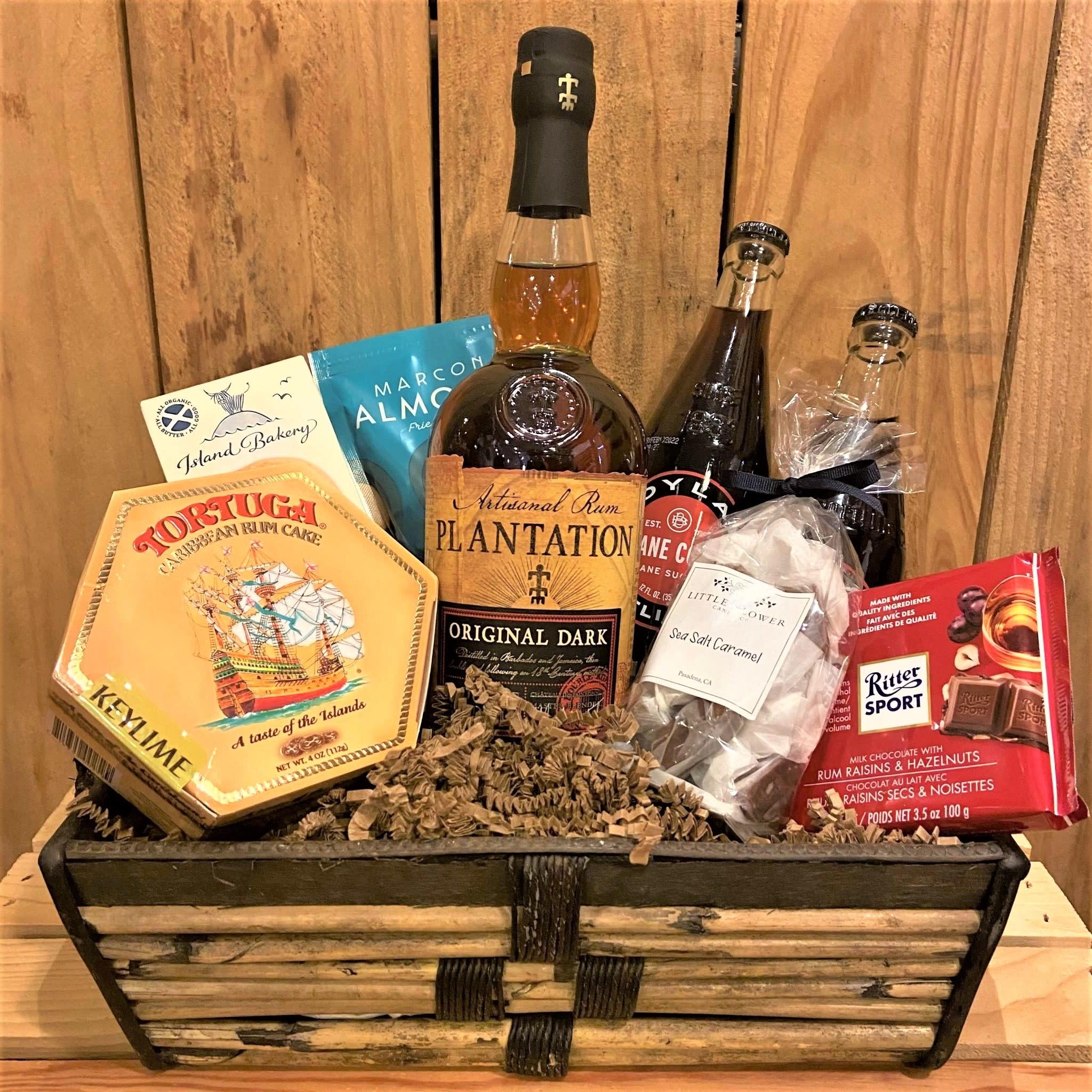 """Island Escape"" Plantation Rum & Cola Gift Basket"