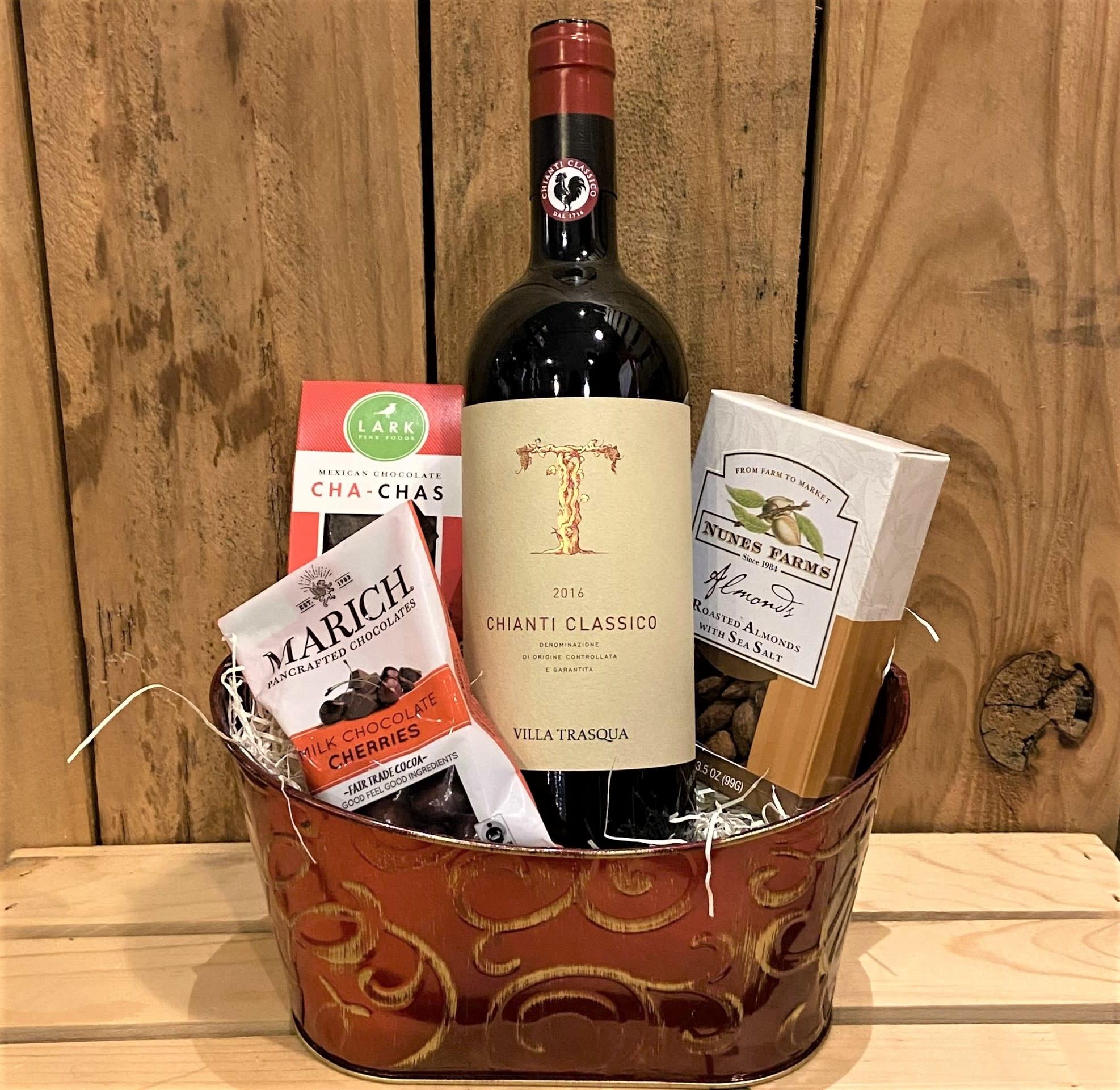 Villa Trasqua Chianti Classico Single Bottle Gift Basket