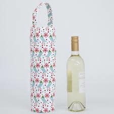RFP Wine Tote - Wintery Bird