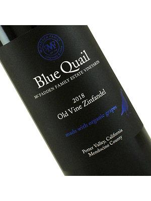 Blue Quail 2018 Old Vine Zinfandel Potter Valley, Mendocino County