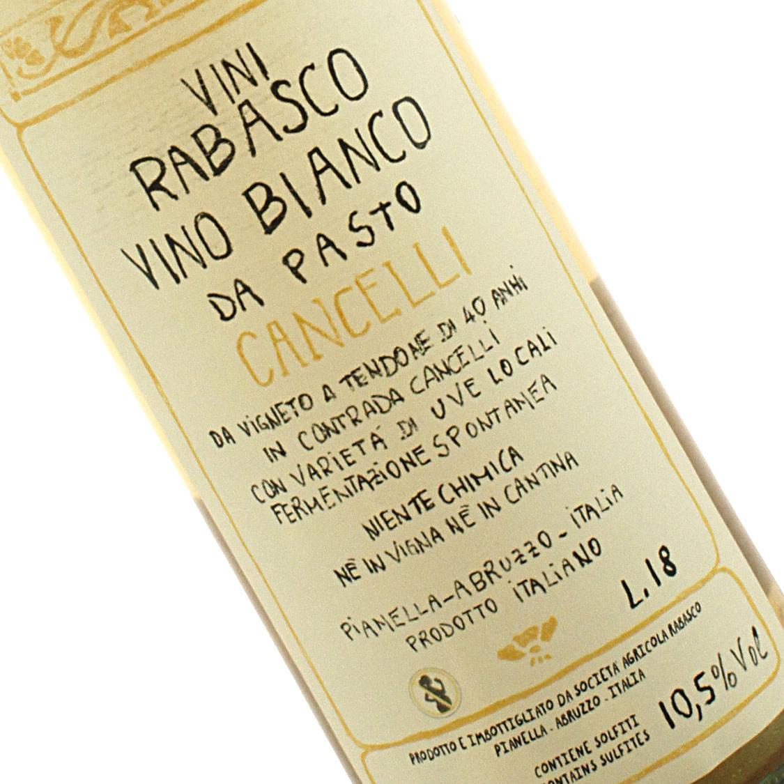 Rabasco 2018 Vino Bianco Da Pasto Cancelli , Abruzzo