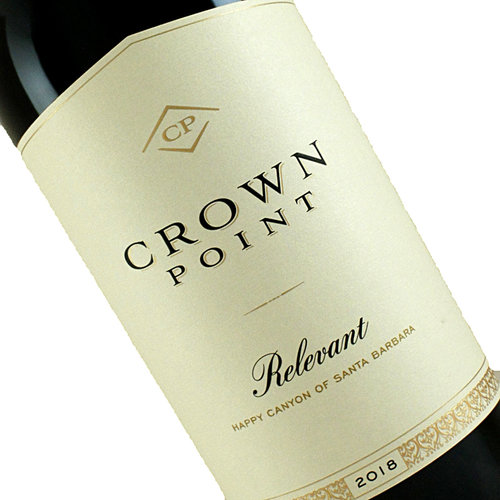 """Crown Point 2018 """"Relevant"""" Red Blend Happy Canyon of Santa Barbara"""