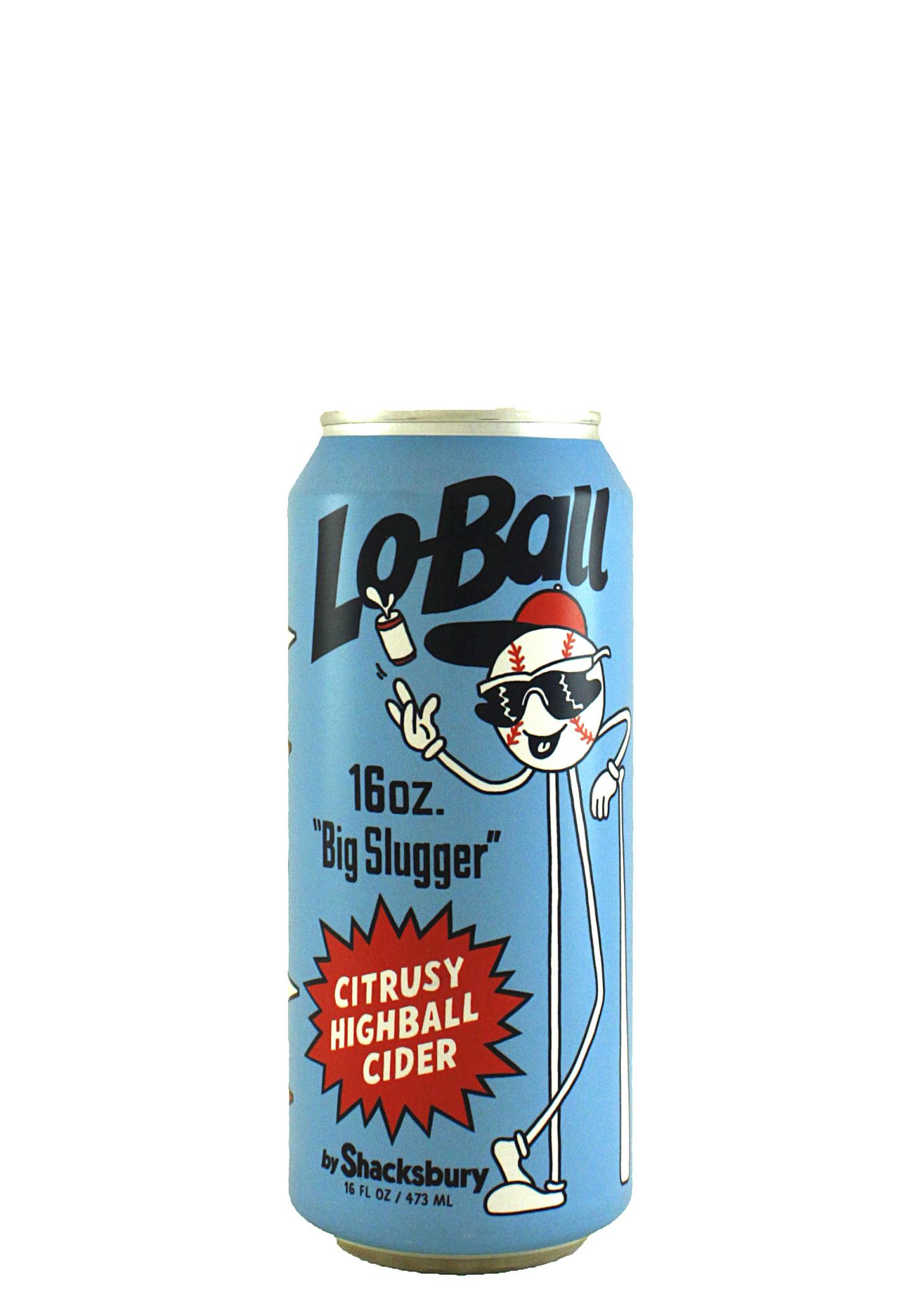 "Shacksbury Cider Lo-Ball ""Big Slugger"" Citrusy Highball Cider 16oz. Can - Vermont"