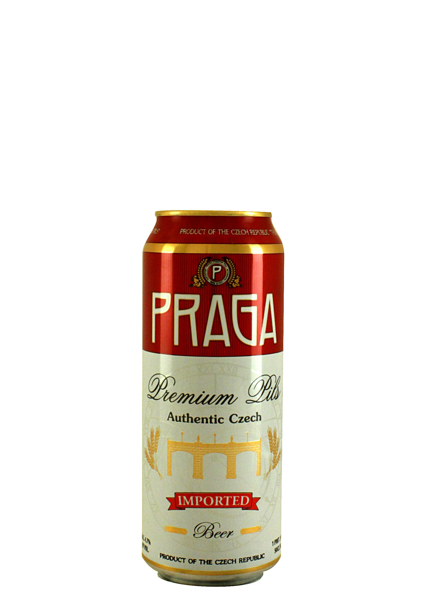Praga Authentic Czech Premium Pils 500ml. Can - Czech Republic
