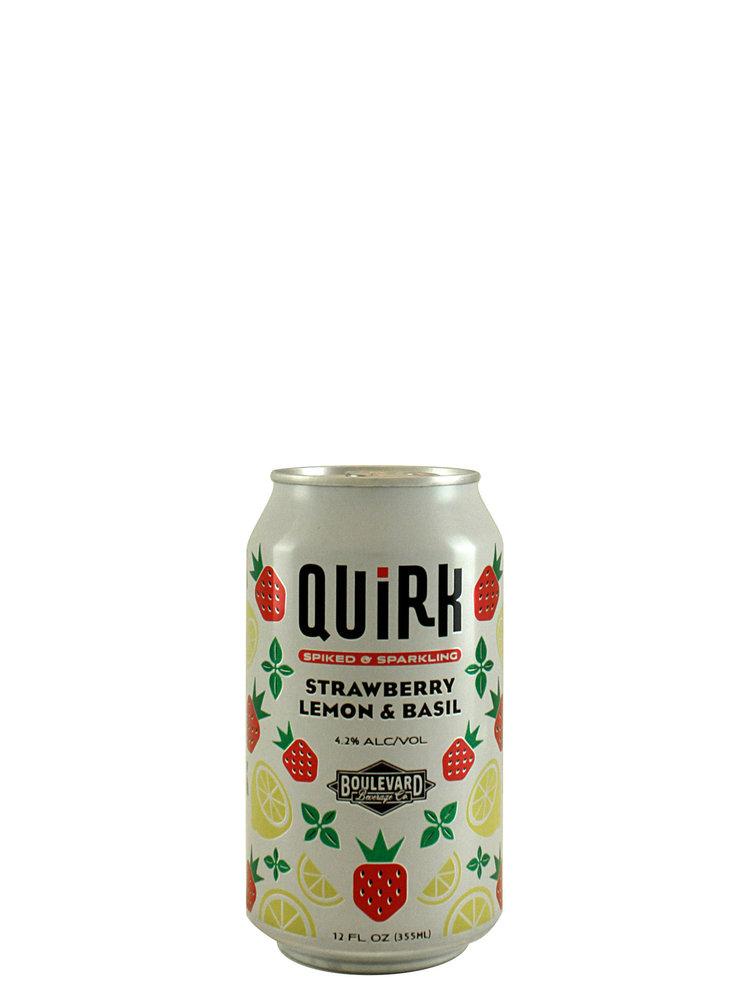 Boulevard Beverage Quirk Strawberry Lemon & Basil Spiked & Sparkling 12oz. Can