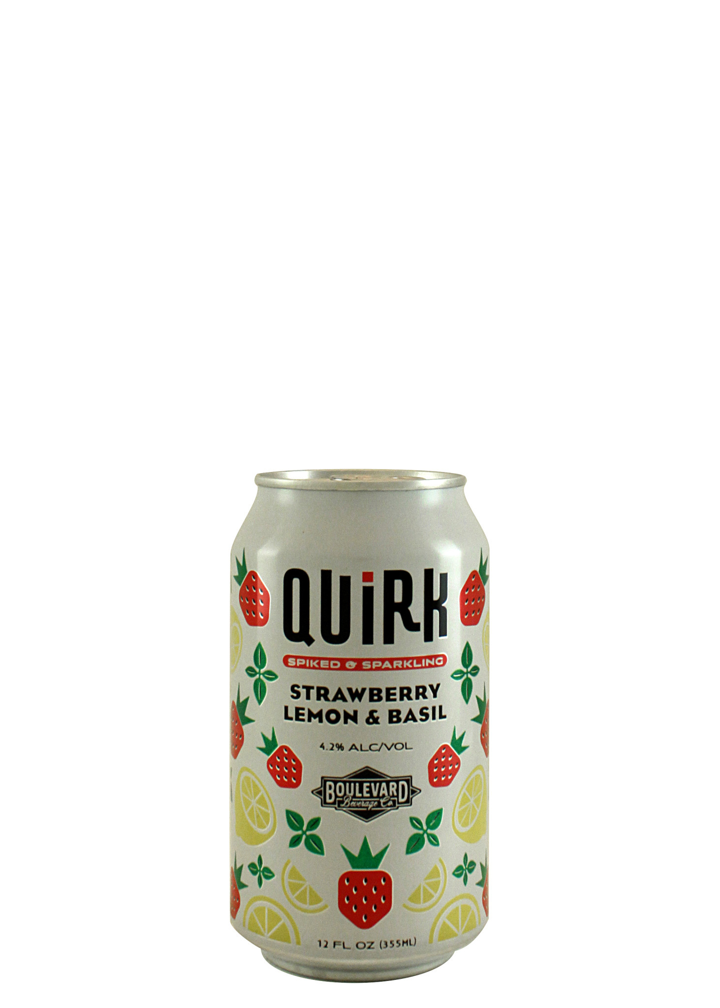 Boulevard Beverage Quirk Strawberry Lemon & Basil Spiked & Sparkling 12oz. Can