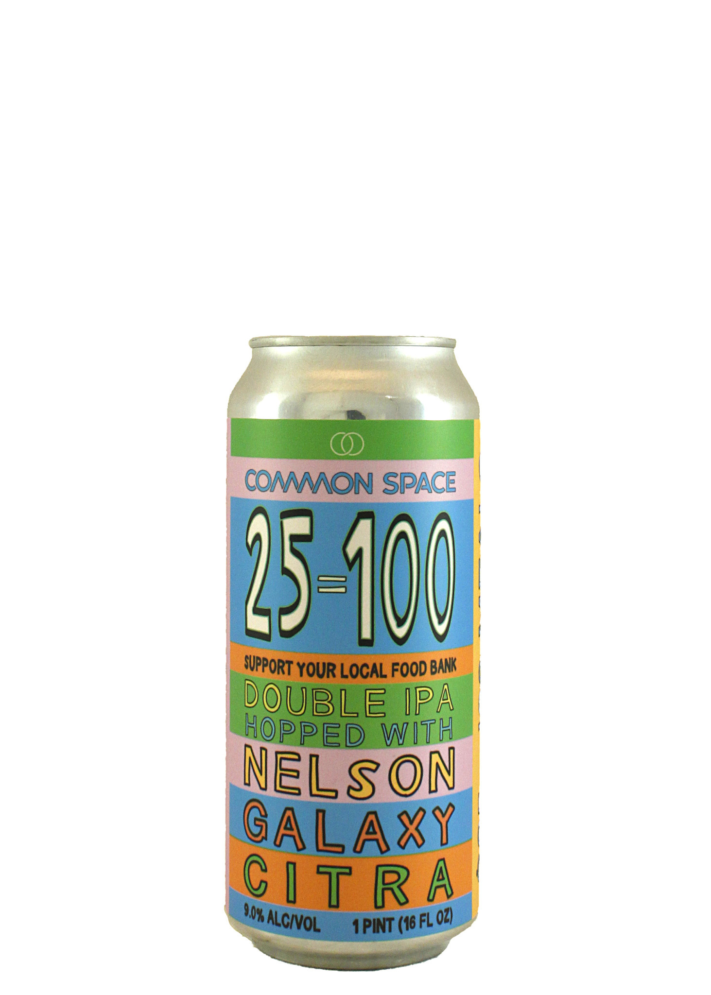 """Common Space Brewery """"25 = 100 Double IPA 16oz. Can - Hawthorne, CA"""