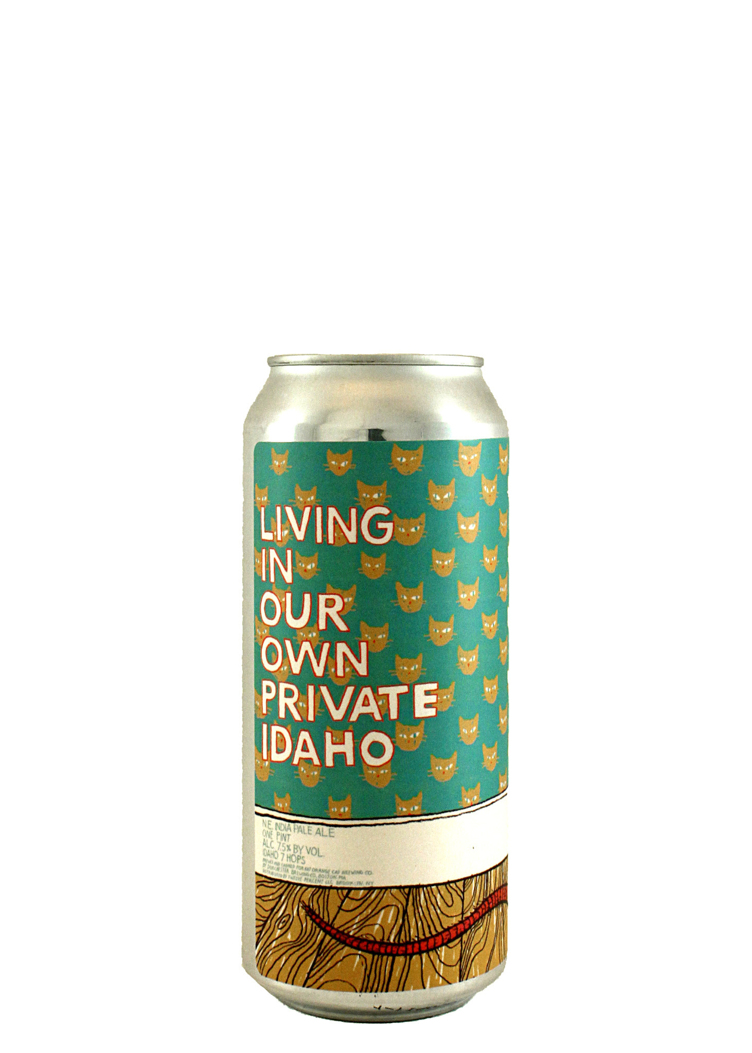 """Fat Orange Cat """"Living In Our Own Private Idaho"""" NE IPA 16oz. Can -"""