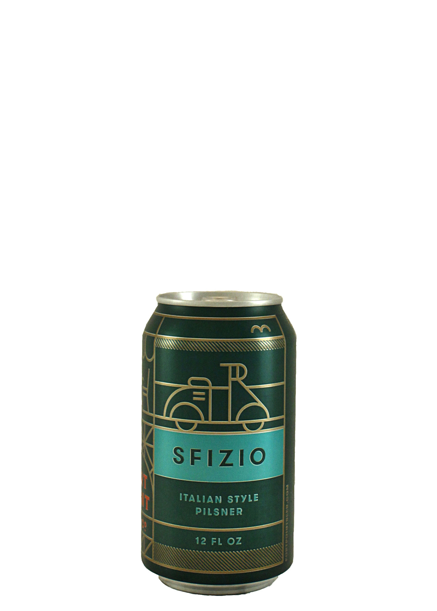 """Fort Point Beer Co. """"SFIZIO"""" Italian-Style Pilsner 12oz. Can - San Francisco, CA"""